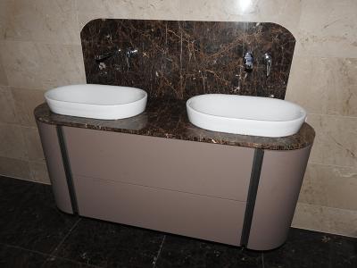 wasbakken badkamer in marmer