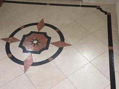 vloer op maat gemaakt van natuursteen